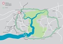 Milford Road Bridge Diversion Map