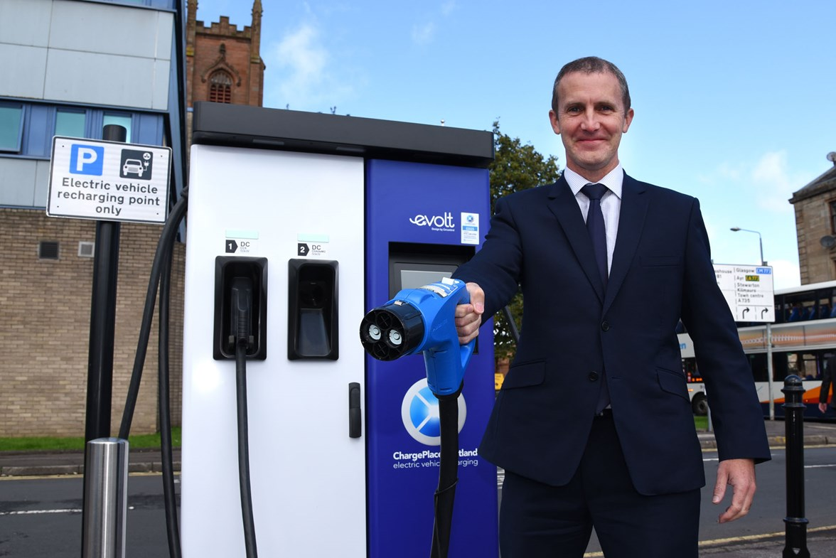 Cabinet Secretary for Transport Michael Matheson MSP 1500 chargepoints