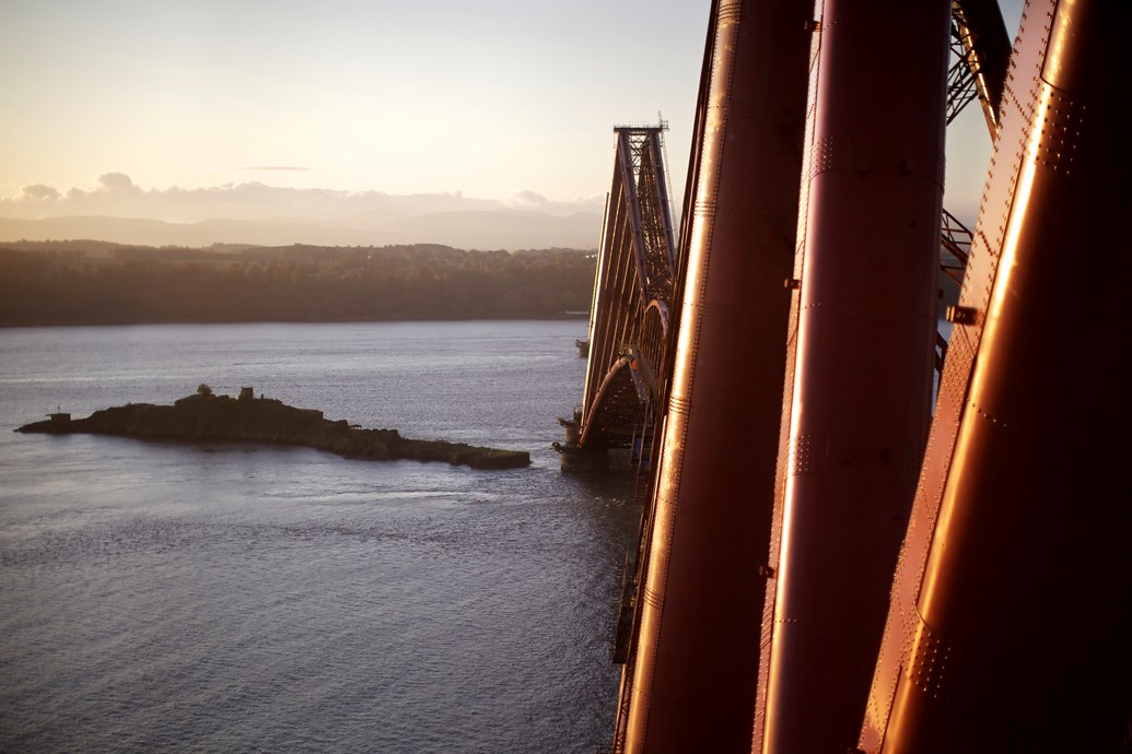 200 job boost for Scotland's railway: Forth Bridge, looking south.
