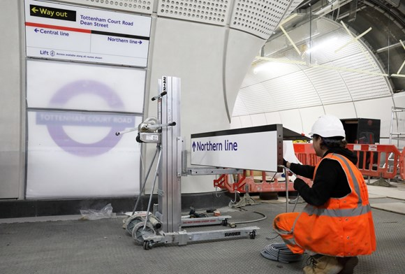 TfL Press Release - Tottenham Court Road Elizabeth line station nearing completion ahead of launch of London's transformational new railway: TfL Image - TCR Elizabeth line nearing completion 01