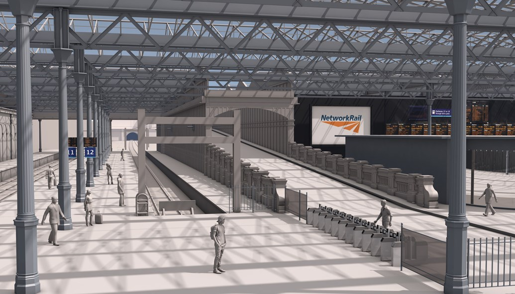 New images of extended Waverley platforms released: Waverley extended platform 12