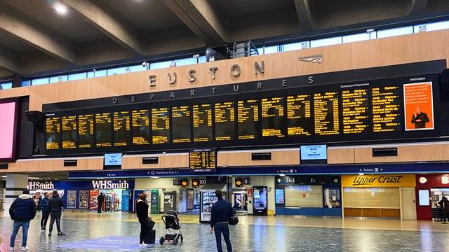 British Sign Language screens for passengers at London Euston