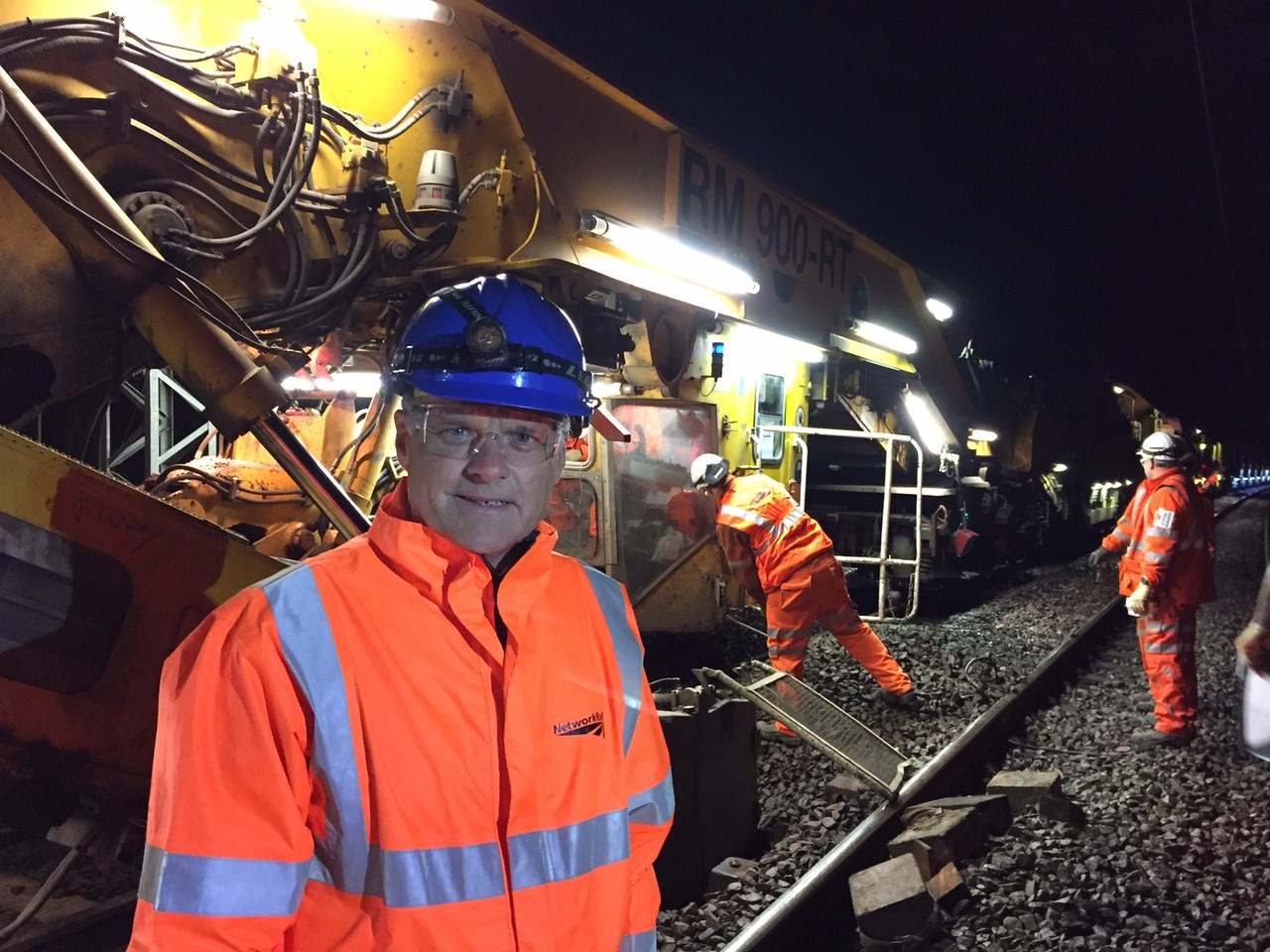 Network Rail chief sees railway upgrades in Northamptonshire first-hand: Mark Carne in Northamptonshire-2