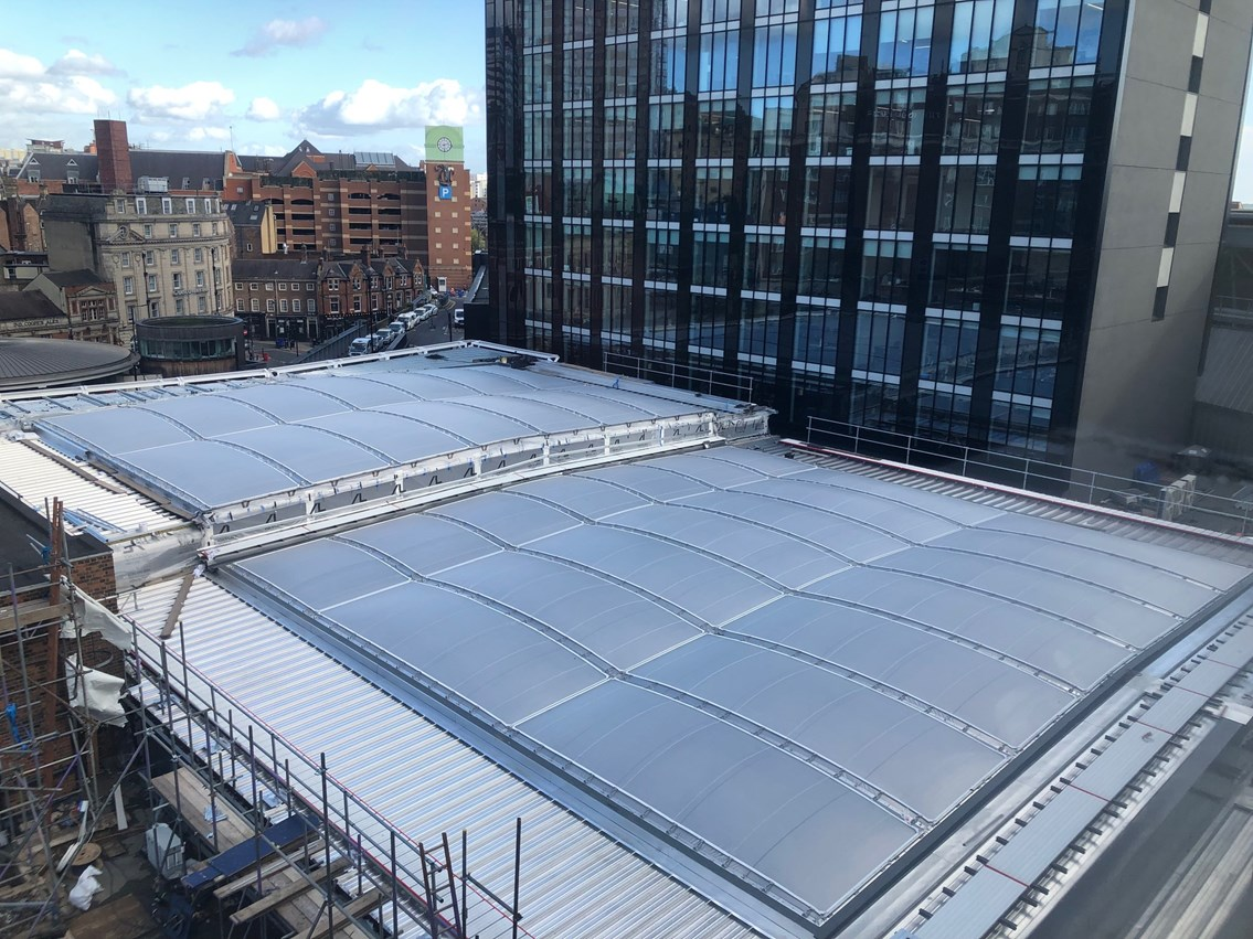 Leeds station roof from above