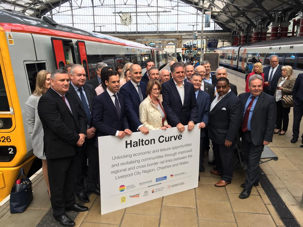 New Rail Services launched between North Wales and Liverpool: Group photo at Liverpool Lime Street
