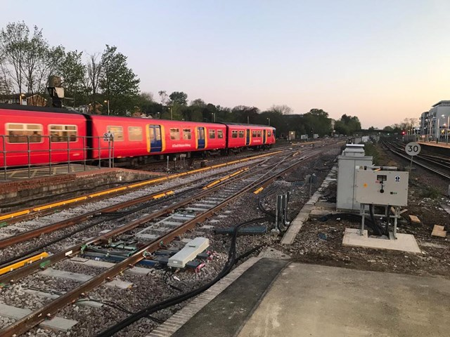 Railway around Guildford reopens after biggest improvements for nearly 40 years: One of the first trains over the new track at Guildford