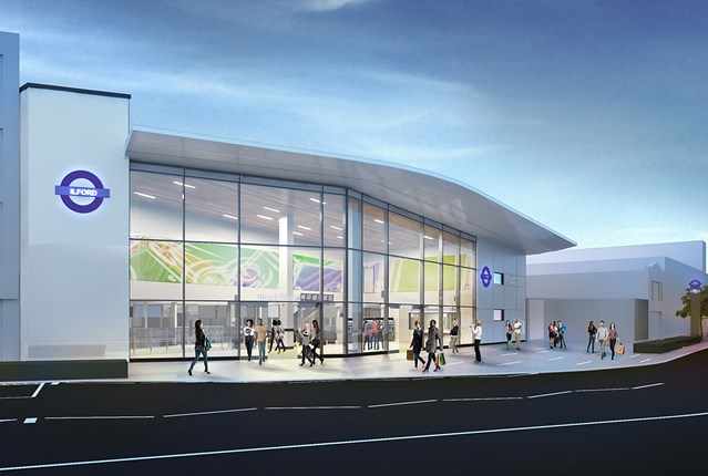 Plans for major transformation of Ilford station unveiled: Ilford station CGI Crossrail