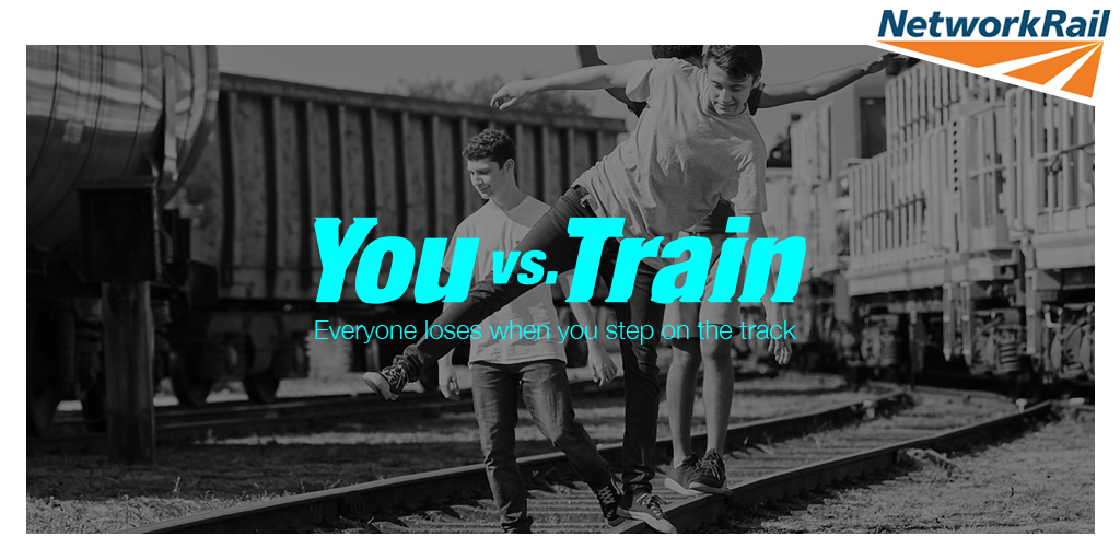 Life-saving campaign reveals nearly 2,000 young people risked their lives on the railway between London and Carlisle: You vs Train