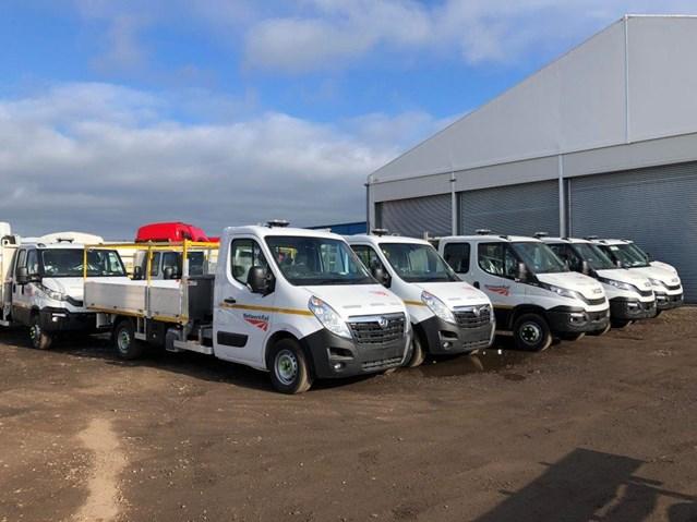 Network Rail awards £136m road fleet management contract to Hitachi Capital: Vauxhall pickups road fleet