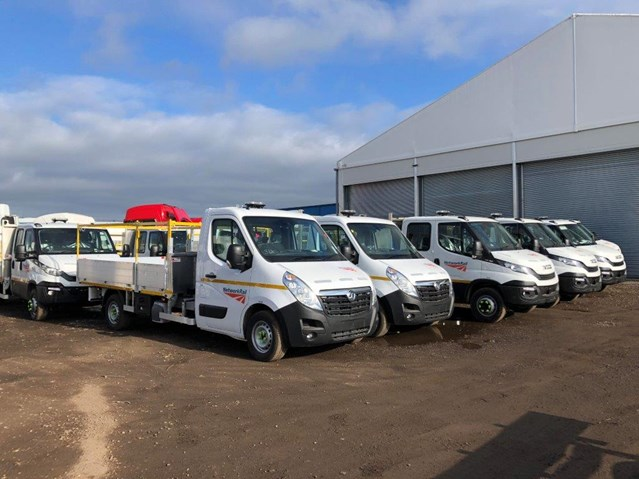 Network Rail awards £136m road fleet management contract to Hitachi Capital: Vauxhall pickups road fleet
