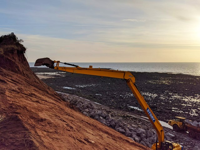 St Bees headland being made safe 2