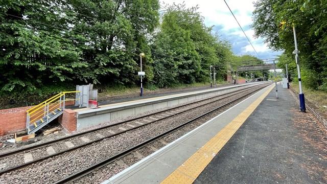 Garrowhill station fully re-opens to passengers following £2.2m platform upgrade: Garrowhill June 2021 1