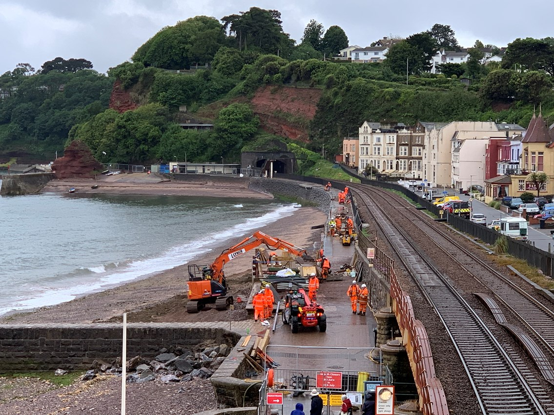 Residents invited to find out more ahead of new Dawlish sea wall work restarting: IMG 8336