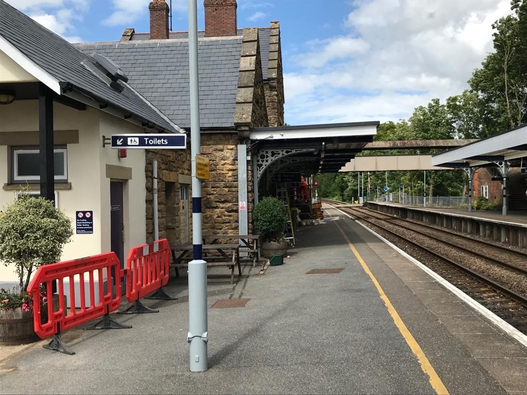Sherbourne: Sherbourne station enjoys a facelift as part of the Templecombe blockade