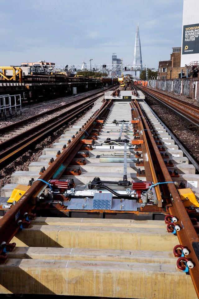 Railwork024: An S&C unit on the tracks near London Bridge