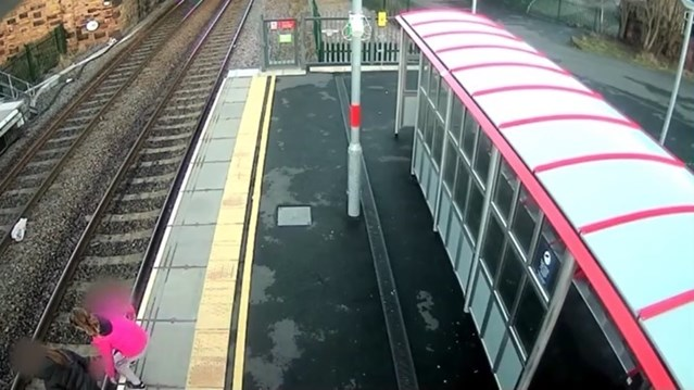 Shocking CCTV footage released as Network Rail and British Transport Police launch life-saving campaign as trespass reaches four year high in West Yorkshire: Network Rail and BTP launch life saving campaign as trespass reaches all time high
