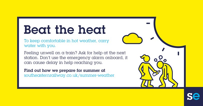 Southeastern Helps Passengers Beat the Summer Heat: Twitter Beat the heat
