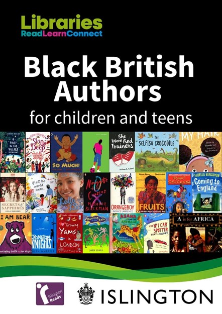 Cover of Islington Libraries booklist celebrating British authors of Black heritage