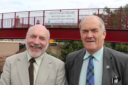 Scotland's biggest flood alleviation scheme in Elgin reaches practical completion.