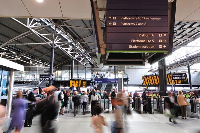 Station staff prepare for Leeds Festival: Leeds station