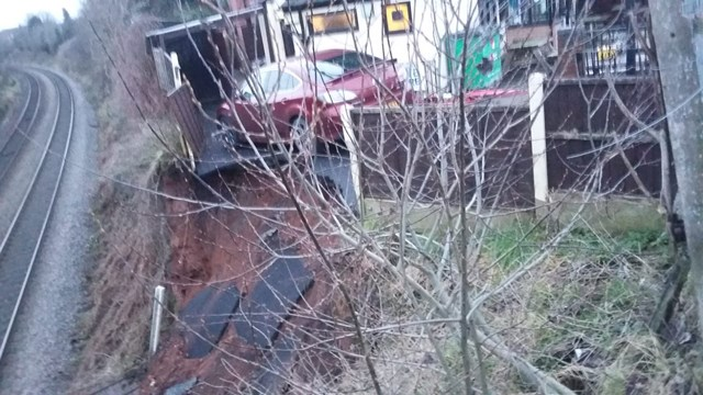 Kidderminster landslip when first reported