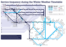 Winter Weather timetable map
