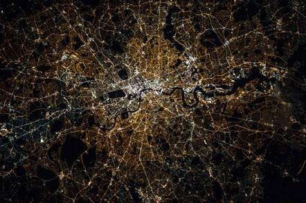 London at night (Copyright NASA)