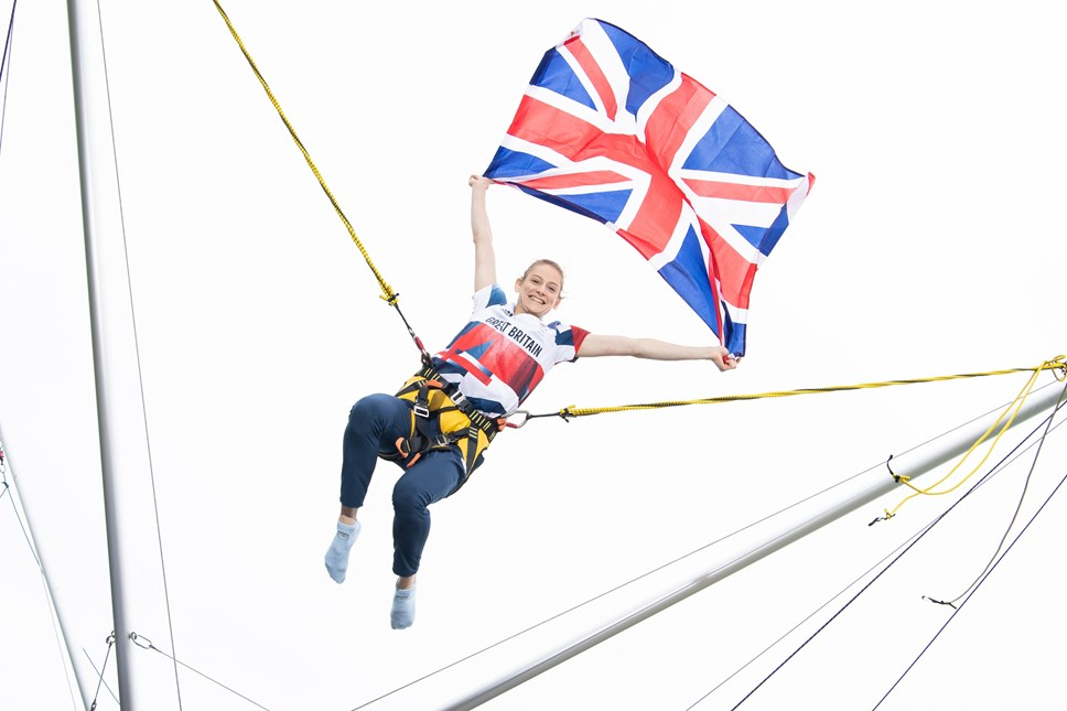 Bryony Page on Bungee Trampolines at Caister-on-Sea