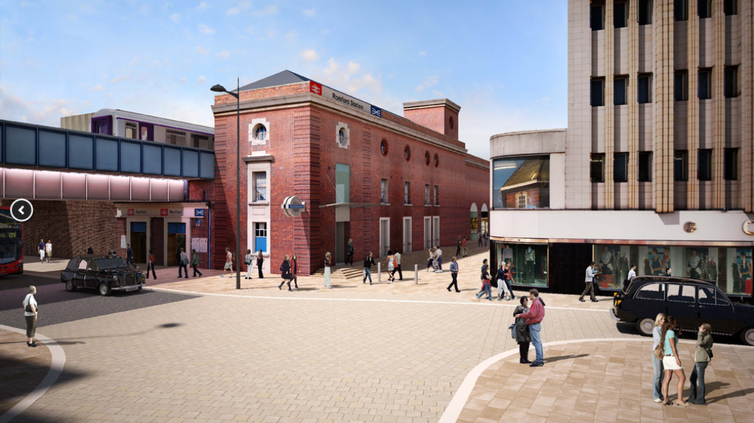 Romford station upgrade – managing the impact of COVID: Romford Visual
