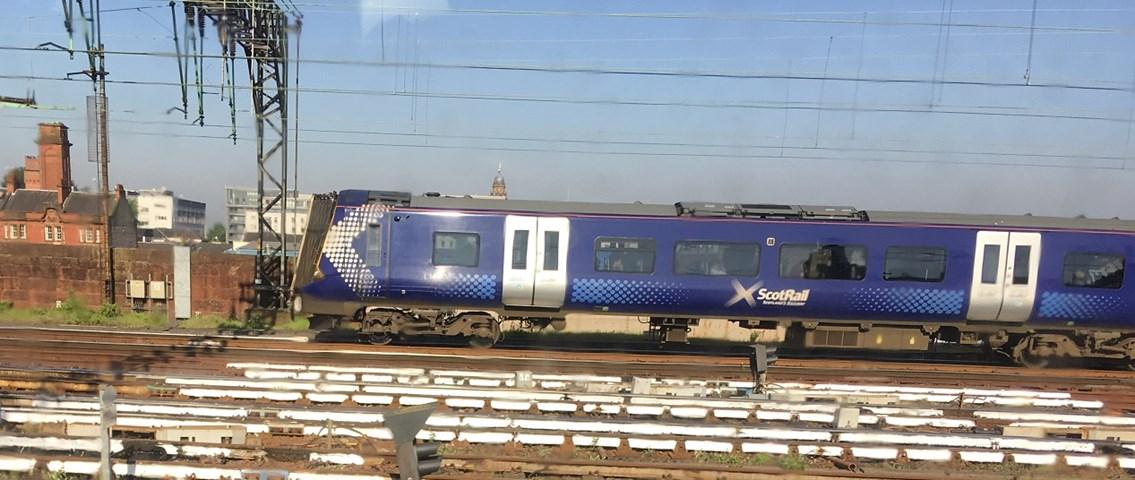 Extreme rail temperatures affect performance: White rails Glasgow Central