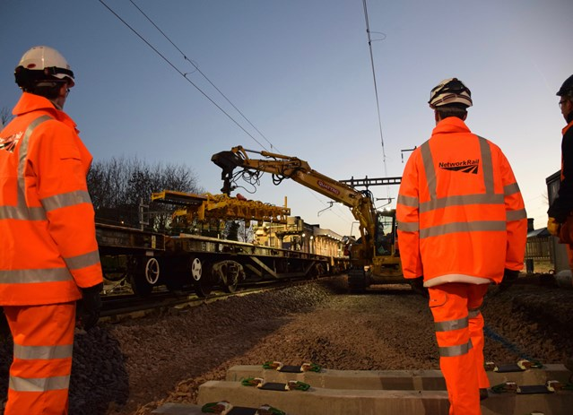 Crossrail works successfully delivered by Network Rail over Christmas: Trackwork at Maidenhead 256443