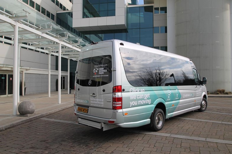 Arriva's on-demand public transport service a success: ArrivaClick - Demand Responsive Transport, UK
