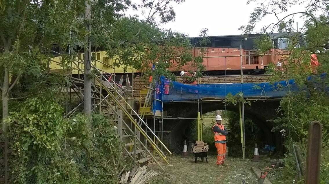 Chilam Derailment Repairs to damaged Bridge - Pic 1