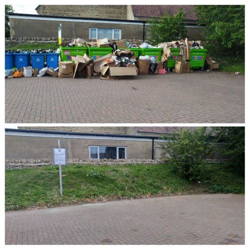 Hanborough bring site before and after removal