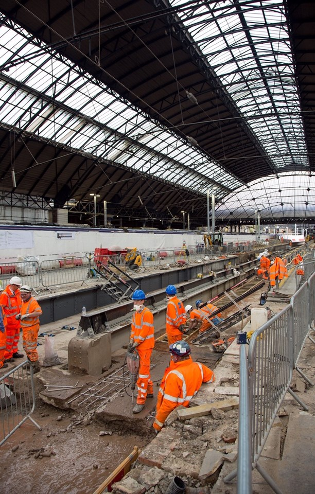 Glasgow Queen Street platform 4/5 works