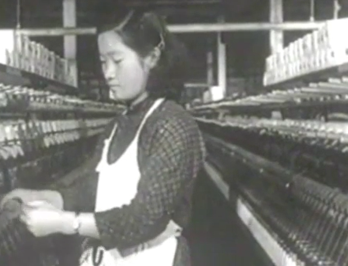 Song of the Female Textile Workers: By the end of the 1940s, there were 4,550 textile factories in Shanghai and the majority were staffed with female migrant workers from neighbouring Zhejiang province.