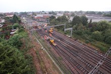 Gidea Park overhead wire project