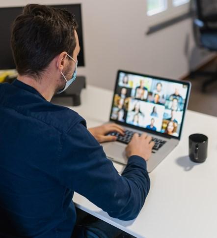 Online meeting: Credit Maxine on Unsplash.