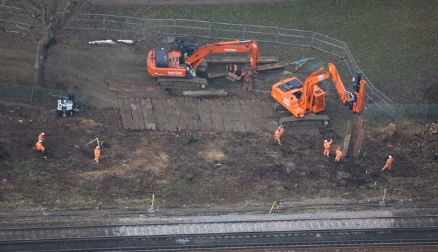 Network Rail starts emergency works at Wivelsfield, East Sussex, to prevent landslip on Brighton Main Line: Wivelsfield