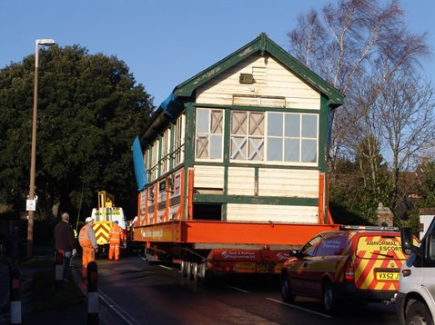 Barnham Signal Box On The Move
