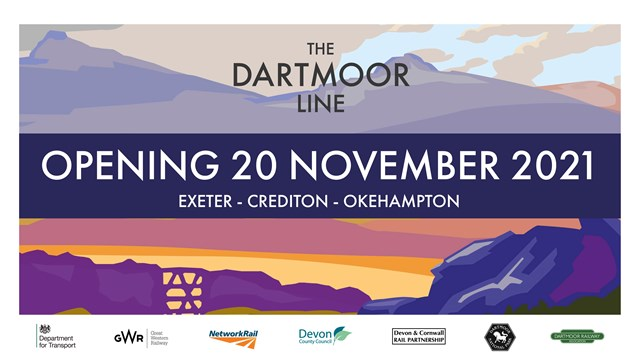 Government restores the Dartmoor Line as services resume for first time in half a century from 20 November: Opening Social artwork