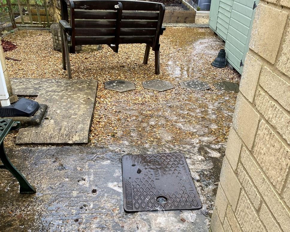 Sewage flooding