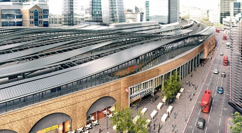 London Bridge Tooley St aerial CGI