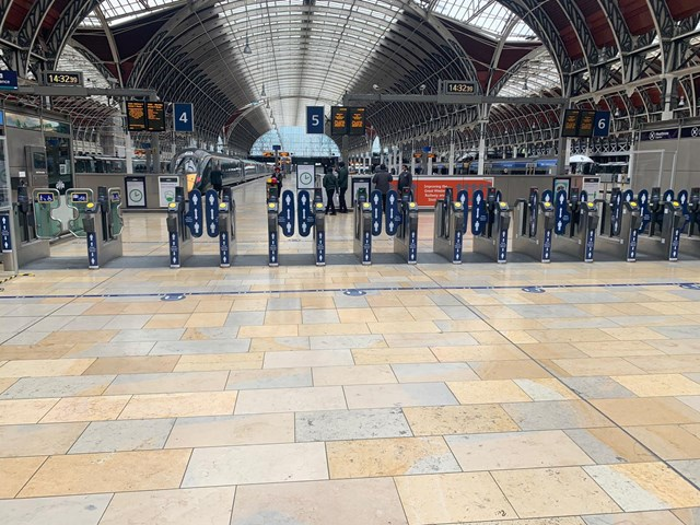 Paddington also has extra signs to help people stay safe at stations