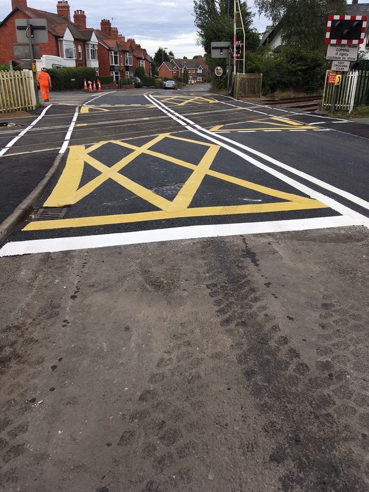 Network Rail thanks local community and motorists in Whittington following successful level crossing upgrade: Whittington level crossing 08.09.19
