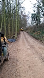 Site access road being built