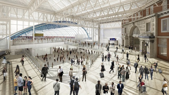 Surrey rail passengers advised of up to 60 minute waiting times at stations during August upgrade: Waterloo International Terminal  (Artist's impression)