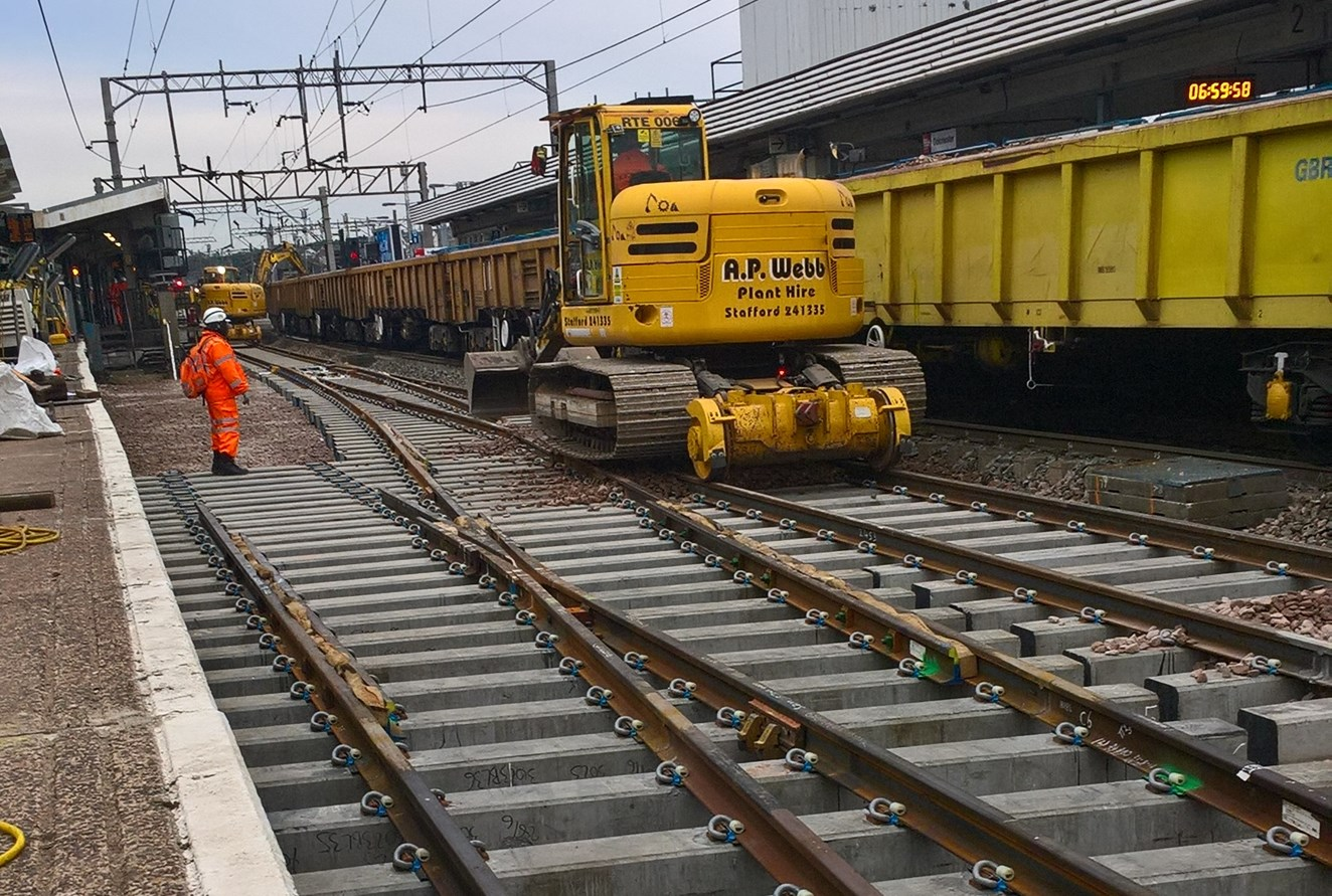 Major rail upgrades completed at Colchester to make main line services more reliable: Wk22 Colchester 0700 Sunday