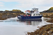 Boat arriving at Isle of May - credit SNH-Lorne Gill