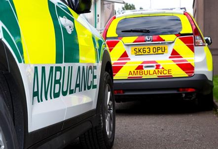 Statement on minibus crash - Borders: ambulance2